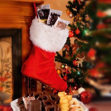 Gefüllter Weihnachtsstiefel
