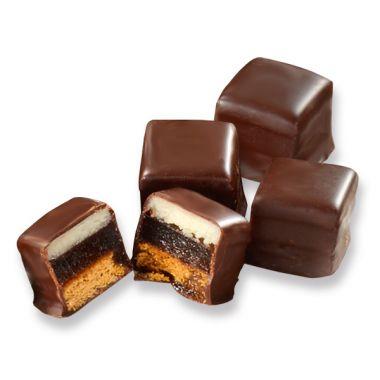 Dessert-Dominos Zartbitter-schokolade