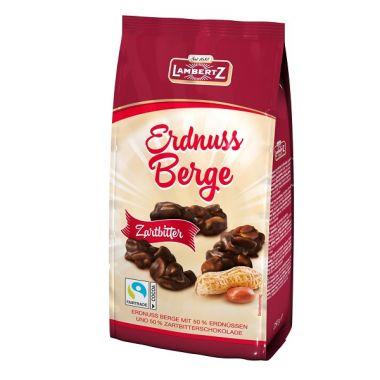 Erdnuss Berge, 250 g mit Zarbitter Schokolade überzogen