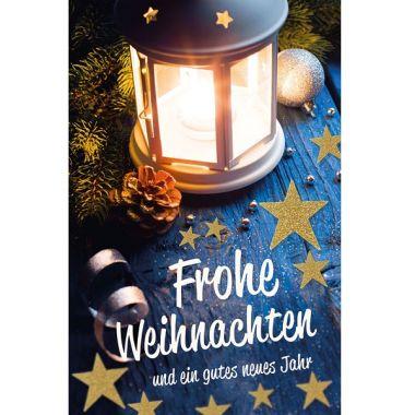 """Grußkarte """"Frohe Weihnachten-Laterne"""""""
