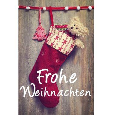 """Grußkarte """"Frohe Weihnachten-Stiefel"""""""