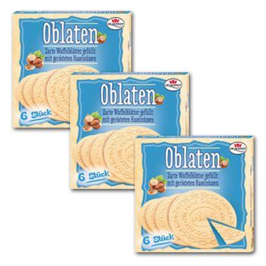 Dr. Quendt Haselnuss-Oblaten - 3 x 150 g